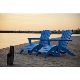 POLYWOOD® South Beach 4-Piece Adirondack Set