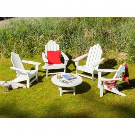 POLYWOOD® Long Island Adirondack 5-Piece Conversation Group