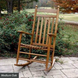Country Style Slat Back Rocking Chair