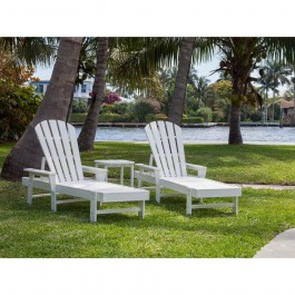 POLYWOOD® South Beach Chaise 3-Piece Set