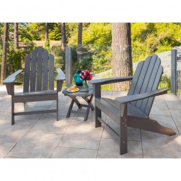 POLYWOOD® Long Island Adirondack 3-Piece Set