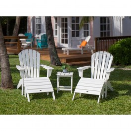 POLYWOOD® South Beach Adirondack 5-Piece Set