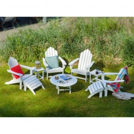 POLYWOOD® Long Island Adirondack 9-Piece Conversation Group