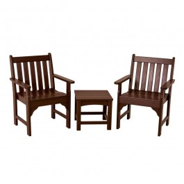 POLYWOOD® Vineyard 3-Piece Garden Chair Set