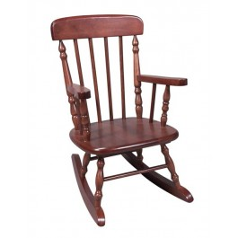 Deluxe Children's Spindle Rocking Chair - Cherry