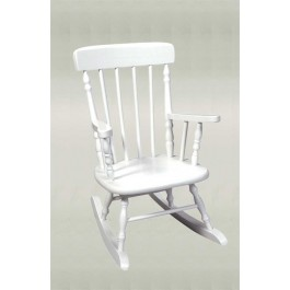 Child's Deluxe Spindle Rocking Chair - White