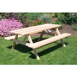 Cedar Table w/ Attached Benches