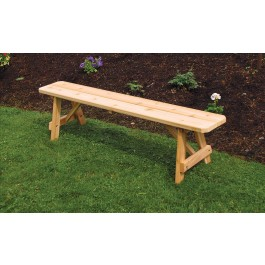 Traditional Backless Cedar Bench