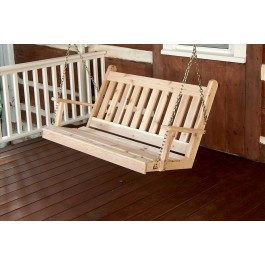 Traditional English Porch Swing - Cedar