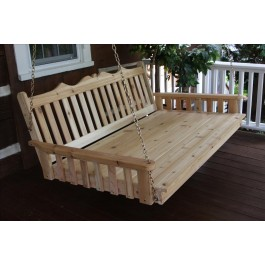 Royal English Garden Swing Bed - Cedar