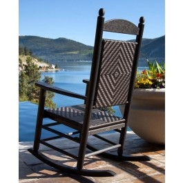 POLYWOOD® Woven Jefferson Rocking Chair