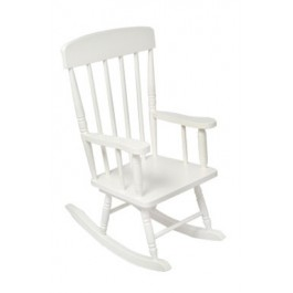 Children's Spindle Rocking Chair - White