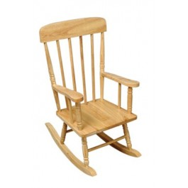 Kids Spindle Rocking Chair - Natural