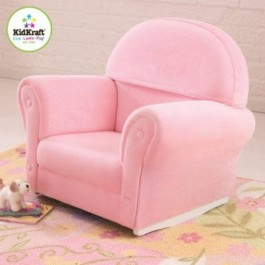 Kids' Upholstered Pink Rocker
