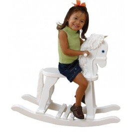 Children's Derby Rocking Horse - White
