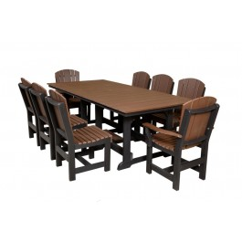 Heritage Table 44x94 w/ 8 Dining Chairs