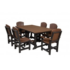 Heritage Table 44x72 w/ 6 Dining Chairs