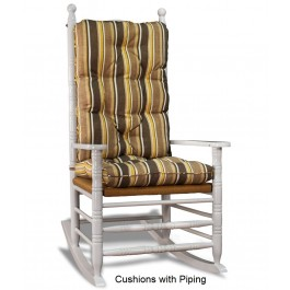 Deluxe Rocking Chair Cushion Set - Striped Fabrics