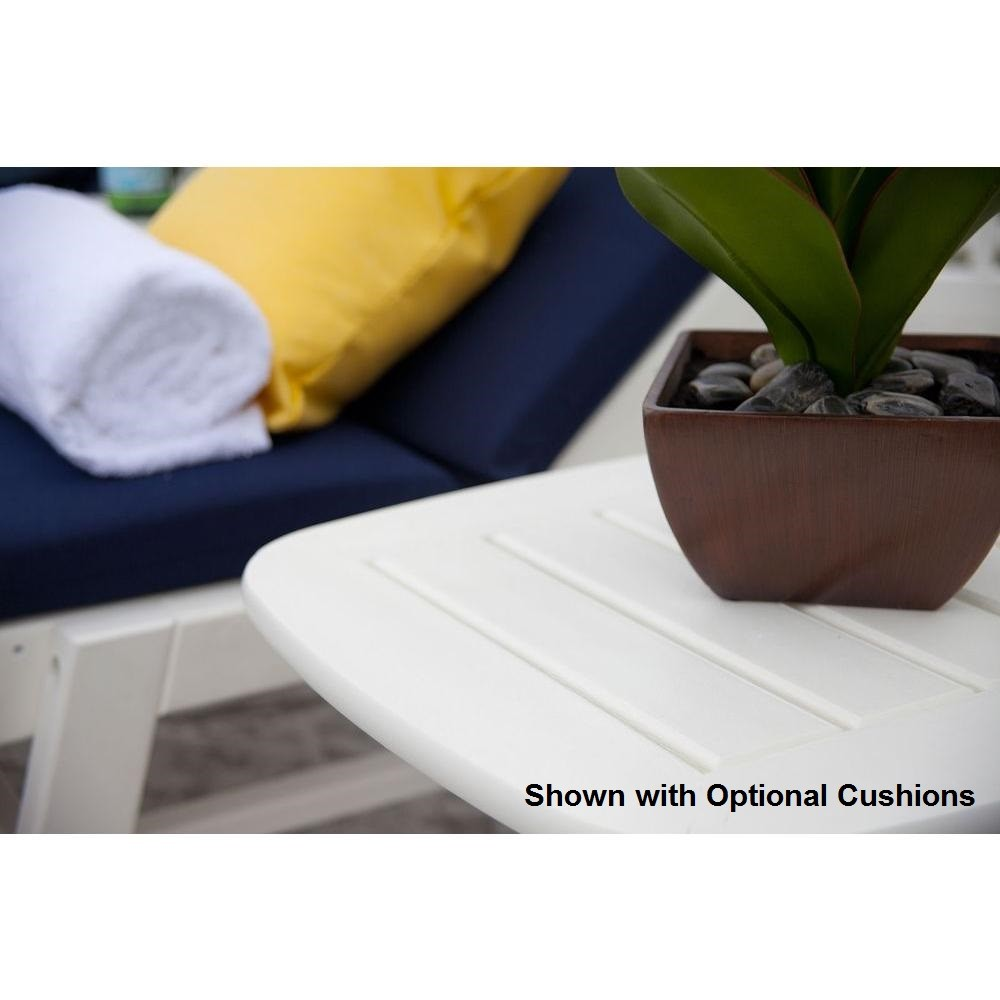Polywood 3 Piece Nautical Outdoor Chaise Lounge Set The