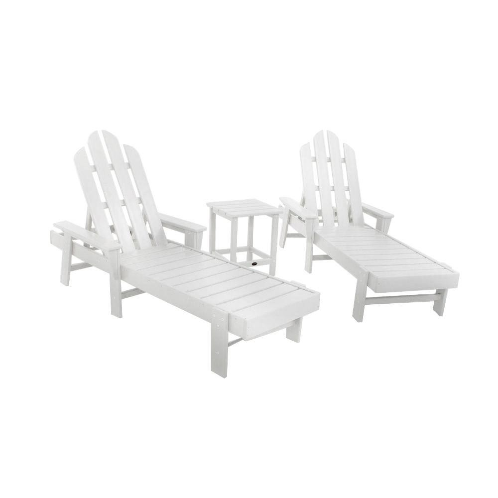 polywood long island adirondack chaise lounge 3 piece set the rocking chair company. Black Bedroom Furniture Sets. Home Design Ideas