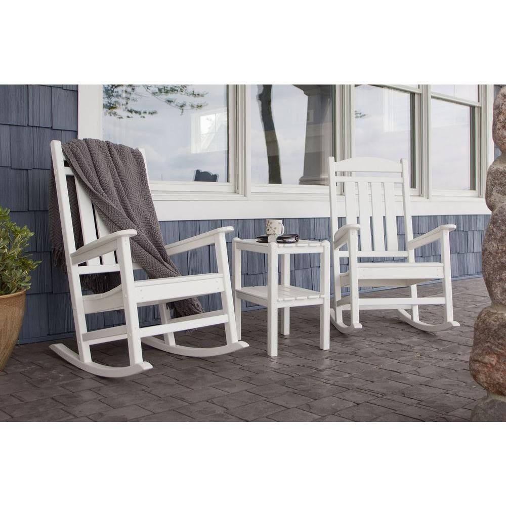 Polywood Presidential Style 3 Piece Outdoor Rocking Chair