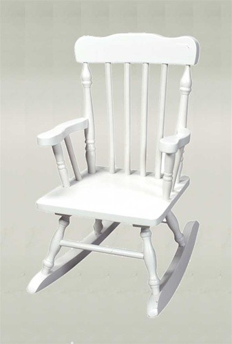 White Colonial Kid S Rocking Chair The Rocking Chair Company