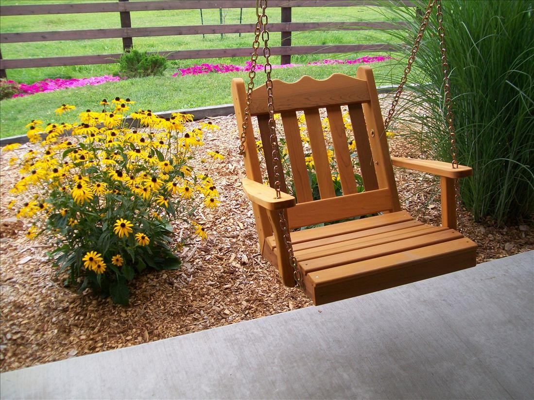 Royal English Outdoor Cedar Swing Chair With Chains The Rocking Chair Company
