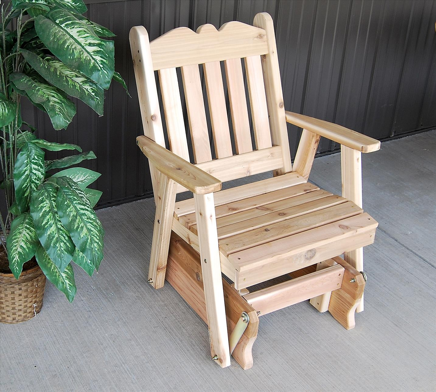 Royal English Outdoor Glider Chair Of Western Red Cedar
