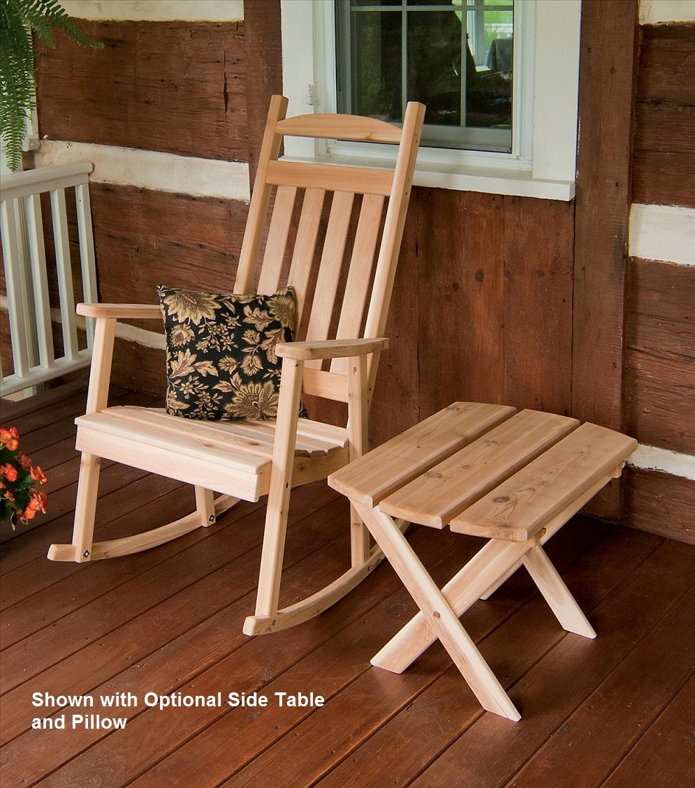 Classic Pa S Porch Rocker Hand Crafted From Red Cedar Wood