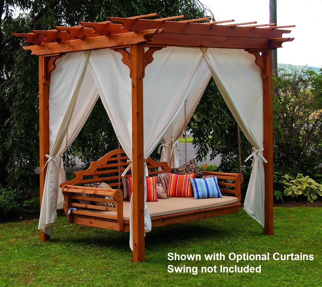 Elegant Western Red Cedar Pergola With Swing Hangers The