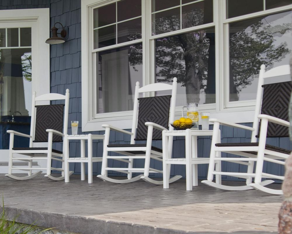 Polywood 174 Woven Jefferson Outdoor Rocking Chair The