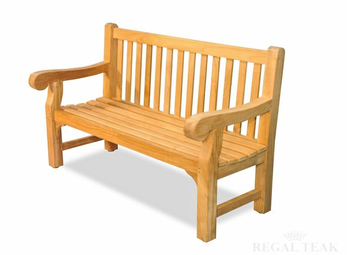Hyde Park Bench, 4 Sizes Available - Regal Teak Hyde Park Garden Bench - The Rocking Chair Company
