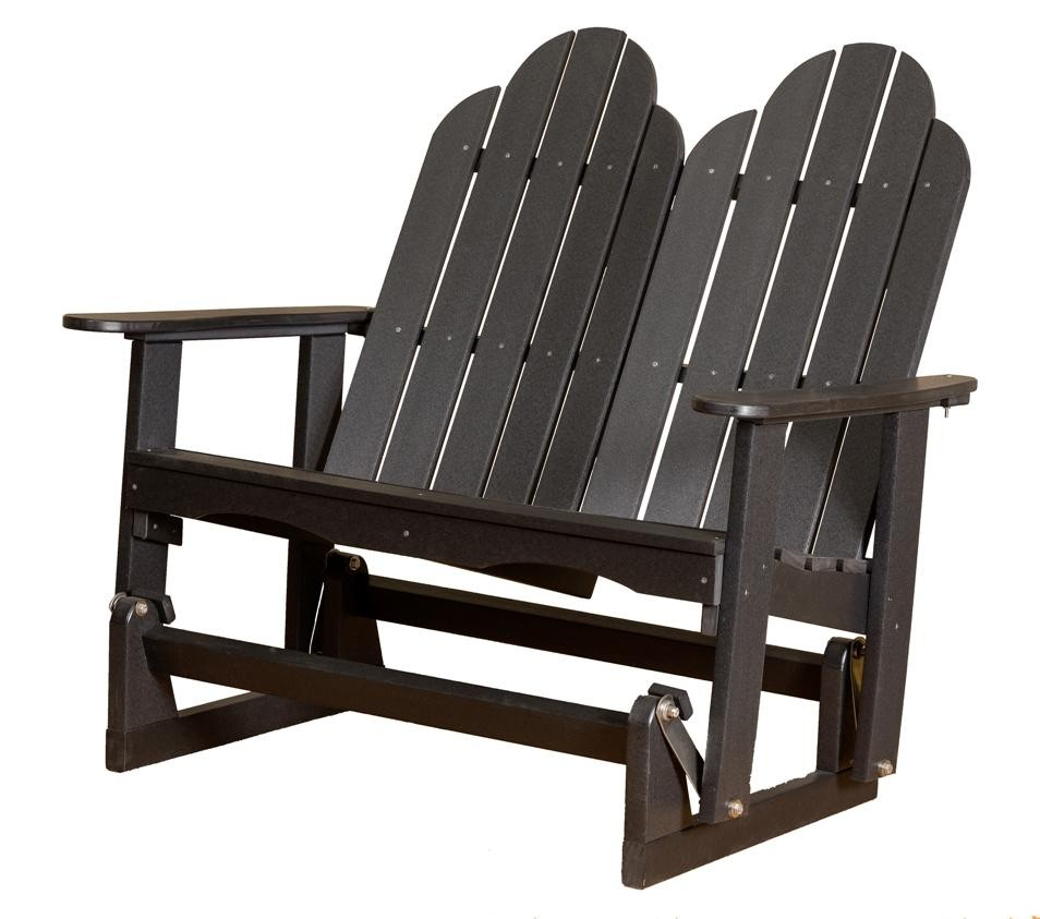 classic adirondack glider the rocking chair company. Black Bedroom Furniture Sets. Home Design Ideas
