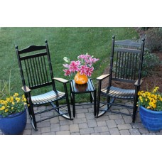 Spindle Back Rocking Chair 3 Piece Assembled Set