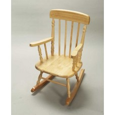 Children's Deluxe Spindle Rocking Chair - Natural