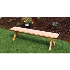 Crossleg Cedar Bench