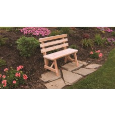Traditional Cedar Backed Bench