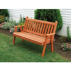 Traditional English Garden Bench - Cedar
