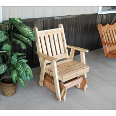 Traditional English Glider Chair - Cedar