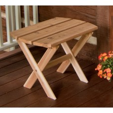 Folding Oval End Table - Cedar