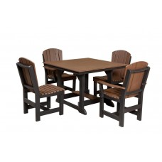 Heritage Table 44x44 w/ 4 Dining Chairs