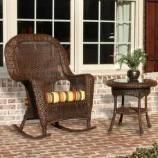 Lexington Wicker Rocker and Side Table